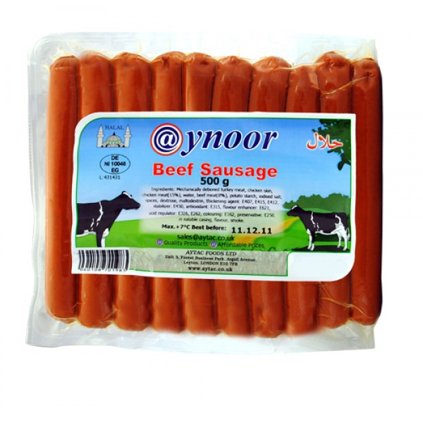 Aynoor Beef Sausage 400g