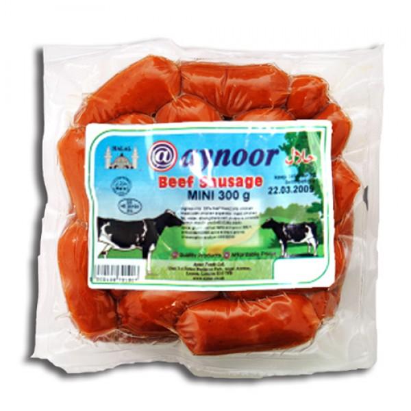 Aynoor Halal Mini Beef Sausage 300g