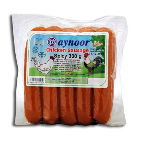 Aynoor Halal Spicy Chicken Sausage 300g