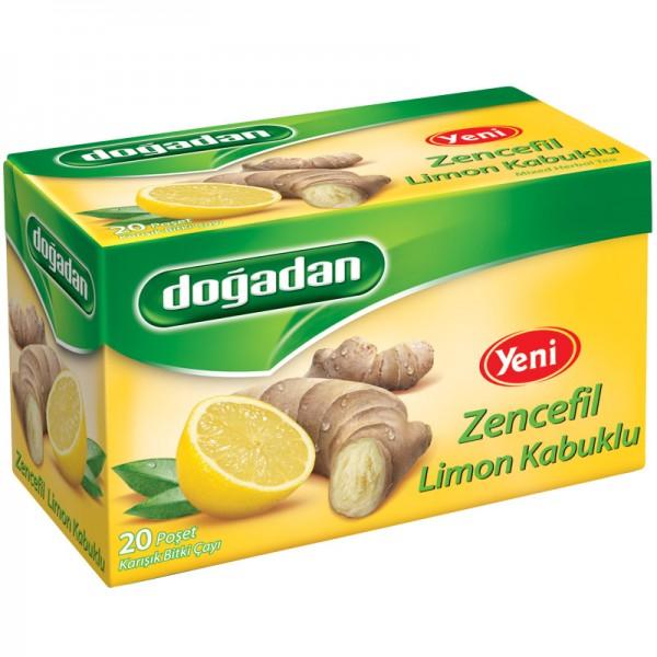 Dogadan Ginger Lemon Peels 20 Bags