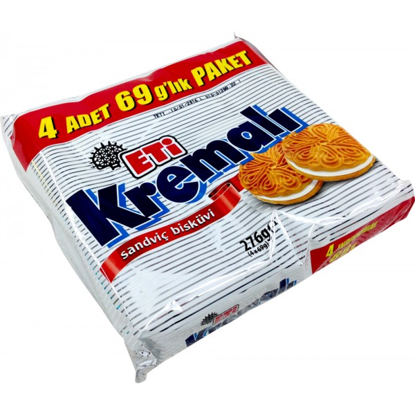 Eti Creamy Biscuits 4-Packed 308h