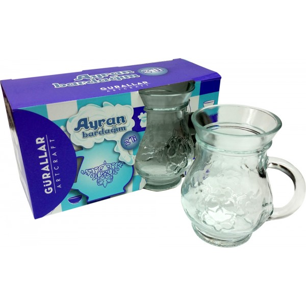 Gurallar Artcraft Turkish Yoghurt Juice / Ayran Glasses 2-Pieces