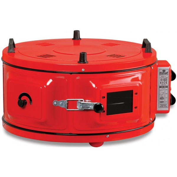 Itimat I-12T Round Oven Red