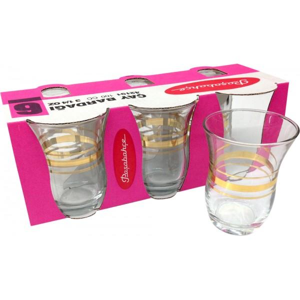 Pasabahce 6x Turkish Tea Glasses 42191