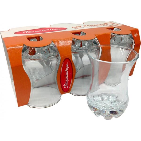 Pasabahce 6x Turkish Tea Glasses 42411