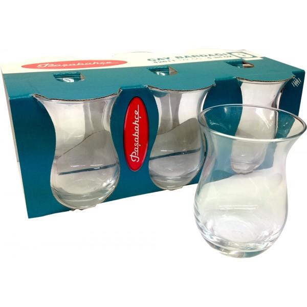 Pasabahce 6x Turkish Tea Glasses 42611