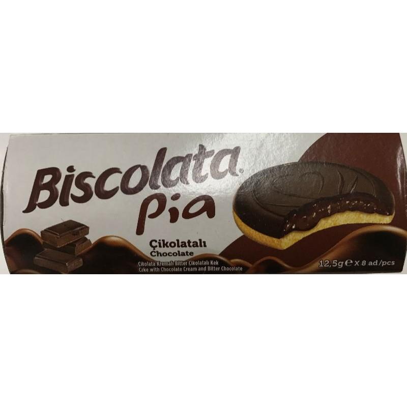 Biscolata Cake With Chocolate And Bitter Chocolate 100g