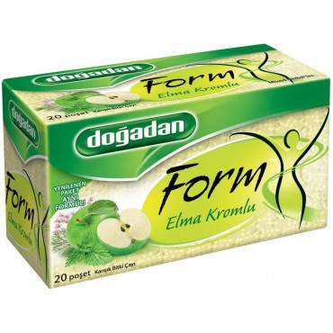 Dogadan Form Mixed Herbal Tea With Apple Chrome 20 Bags