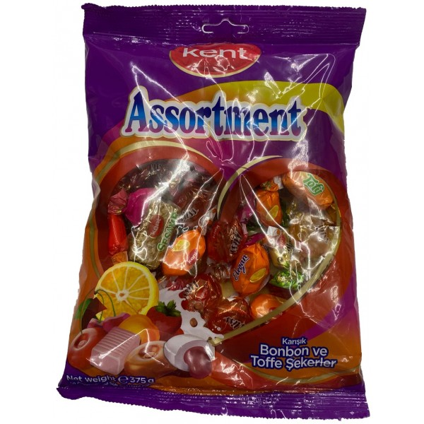 Kent Assortment Mixed Rock And Toffee Sweets 375gr