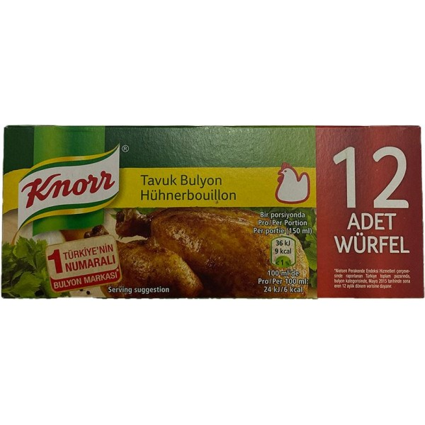 Knorr Chicken Bouillon 12 Tablets 120g