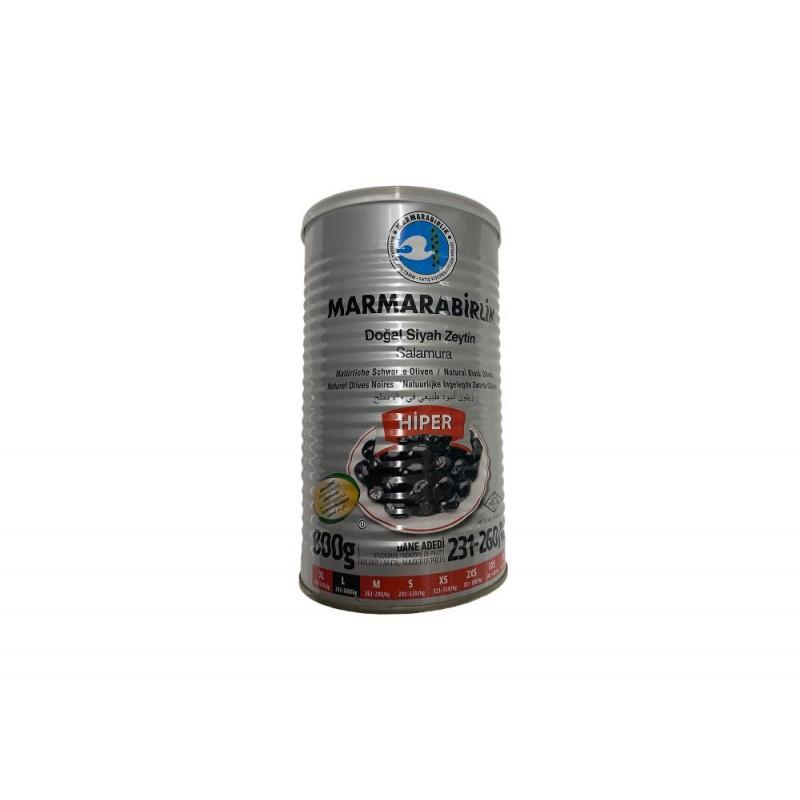 Marmarabirlik Large Hiper Naturel Black Olives 800g Net Weight 1260g