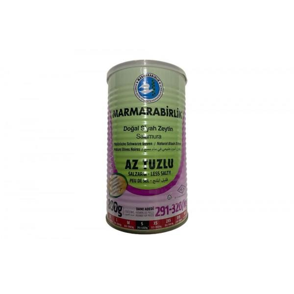 Marmarabirlik Small Less Salty Naturel Black Olives 800g Net Weight 1260g