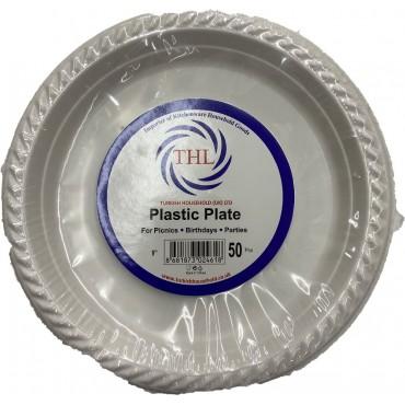 Thl Plastic Plate 10 Inches 50 Pcs
