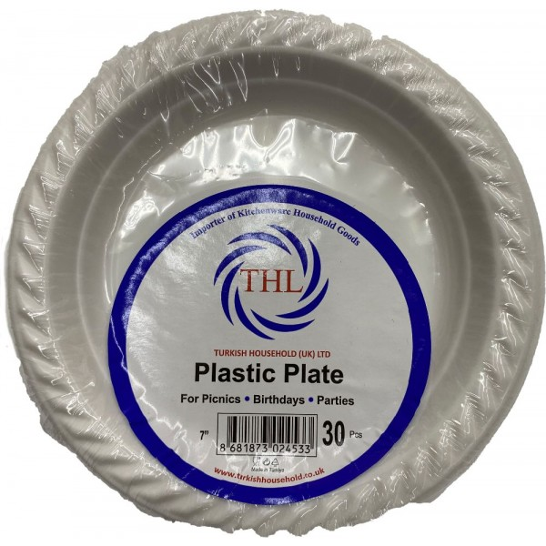 Thl Plastic Plate 7 Inches 30 Pcs