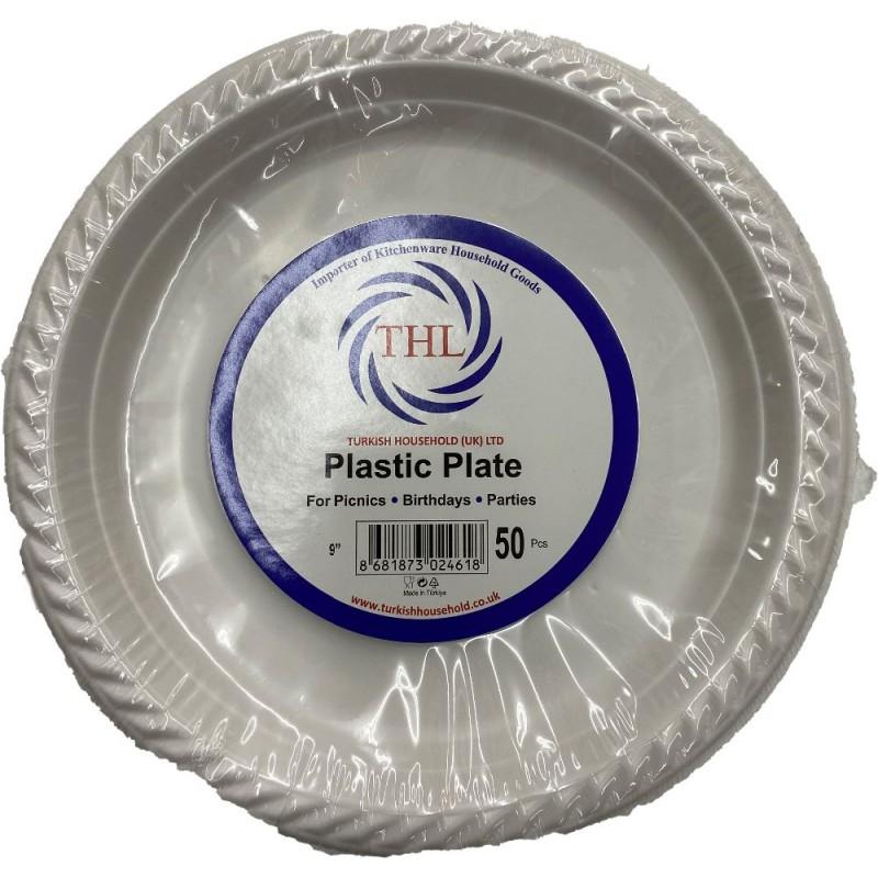 Thl Plastic Plate 9 Inches 50 Pcs