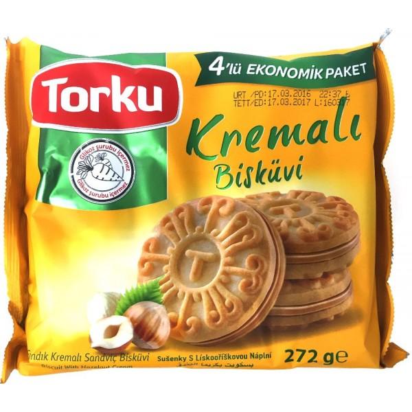 Torku Biscuits With Hazelnut Cream 4-Packed 272g