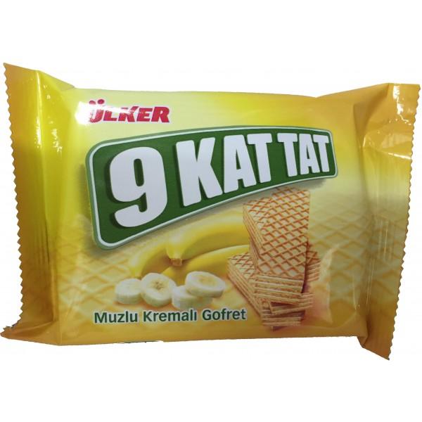 Ulker 9 Kat Tat Wafers With Banana Cream