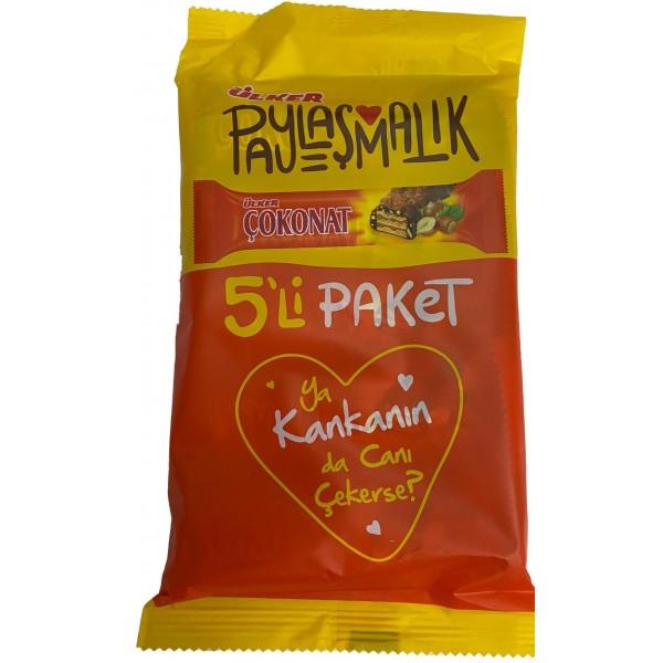 Ulker Cokonat Milked Chocolate And Hazelnut Coated Wafer 5-Packed