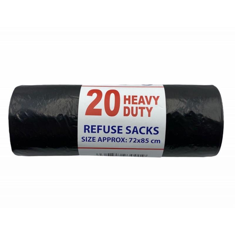 20 Heavy Duty Bin Bags