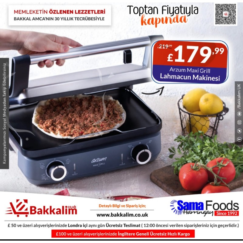 Arzum Maxi Grill All In One Grill Lahmacun