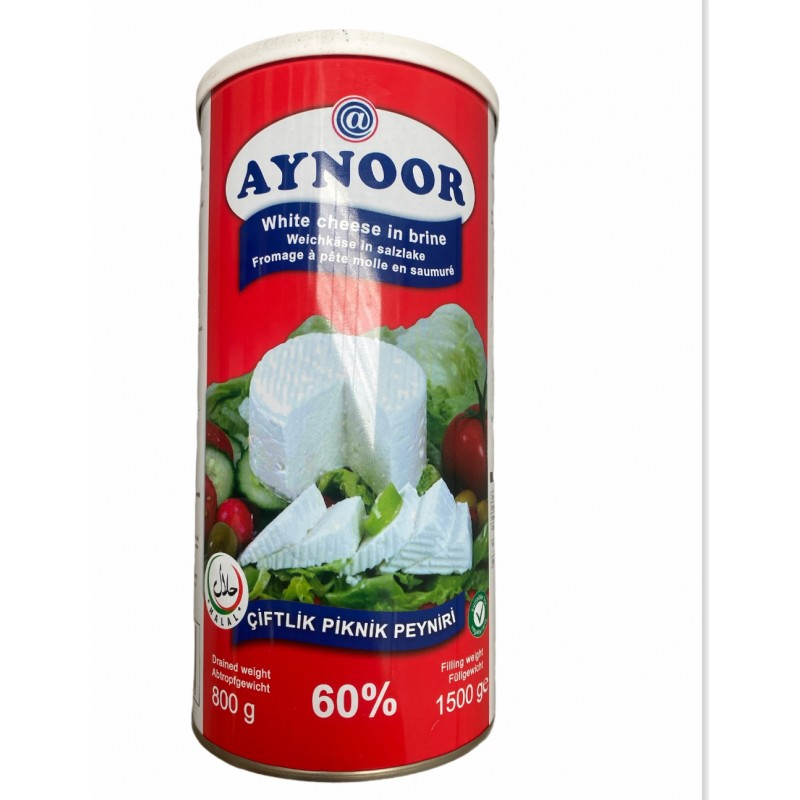 Aynoor White Cheese 60 Percent Fet 1kg