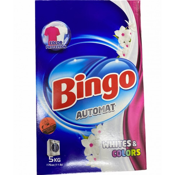 Bingo Washing Up Detergent White And Colour 5kg