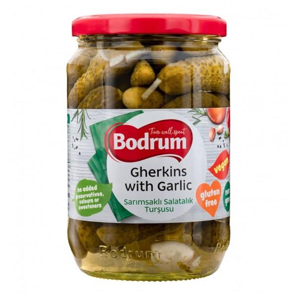 Bodrum Cornichons With Garlic 680g