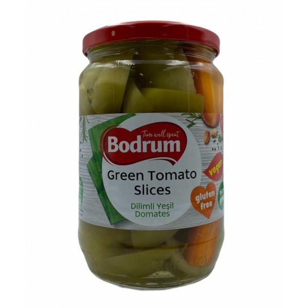 Bodrum Green Tomato Slices 670g