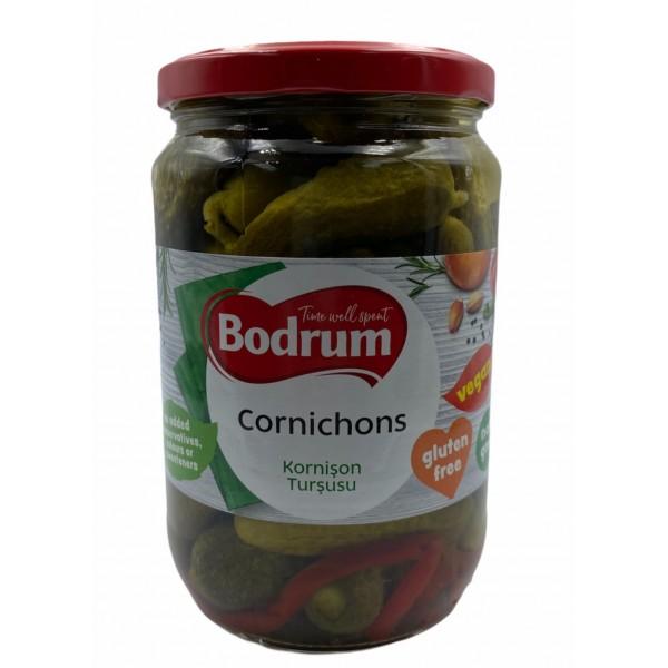 Bodrum Hot Cornichons 680g