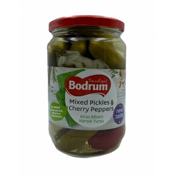 Bodrum Mixed Pickles Cherry Peppers 680g