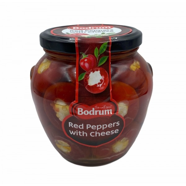 Bodrum Red Peppers With Cheese 520g