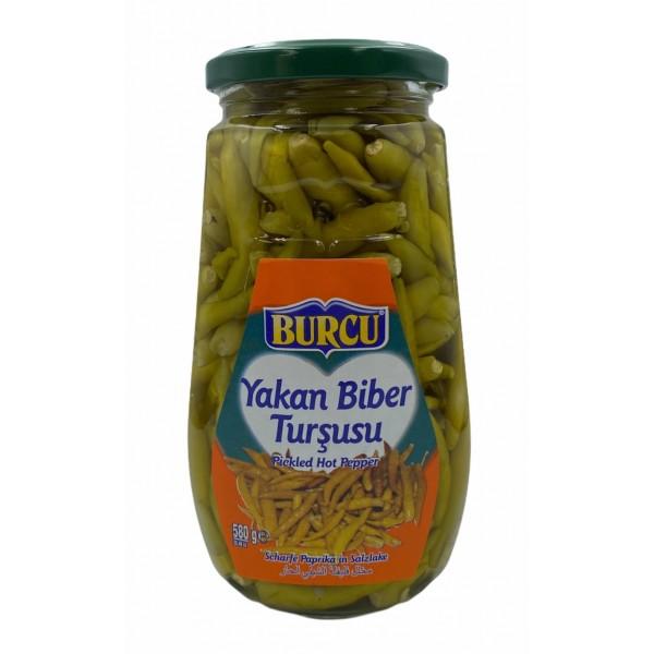 Burcu Pickled Hot Pepper 580ml