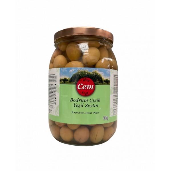 Cem Scratched Green Olives 900g