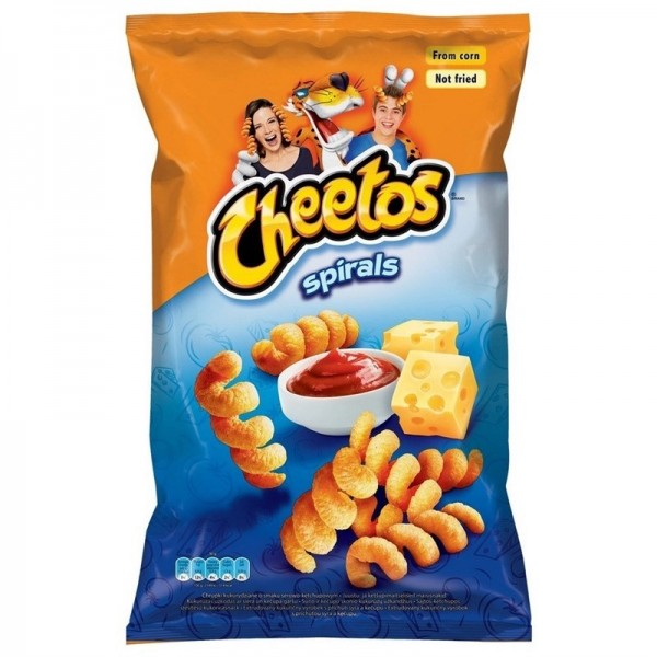 Cheetos Spirals Ketchup And Cheese Flavoured 145g