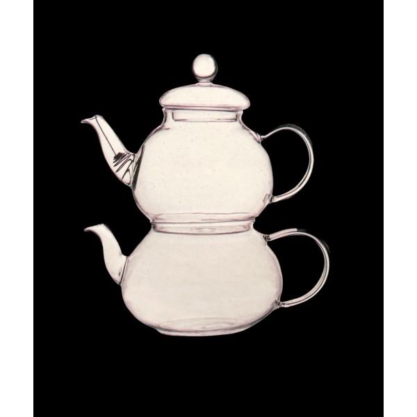 Ciftciler Glass Teapot Set