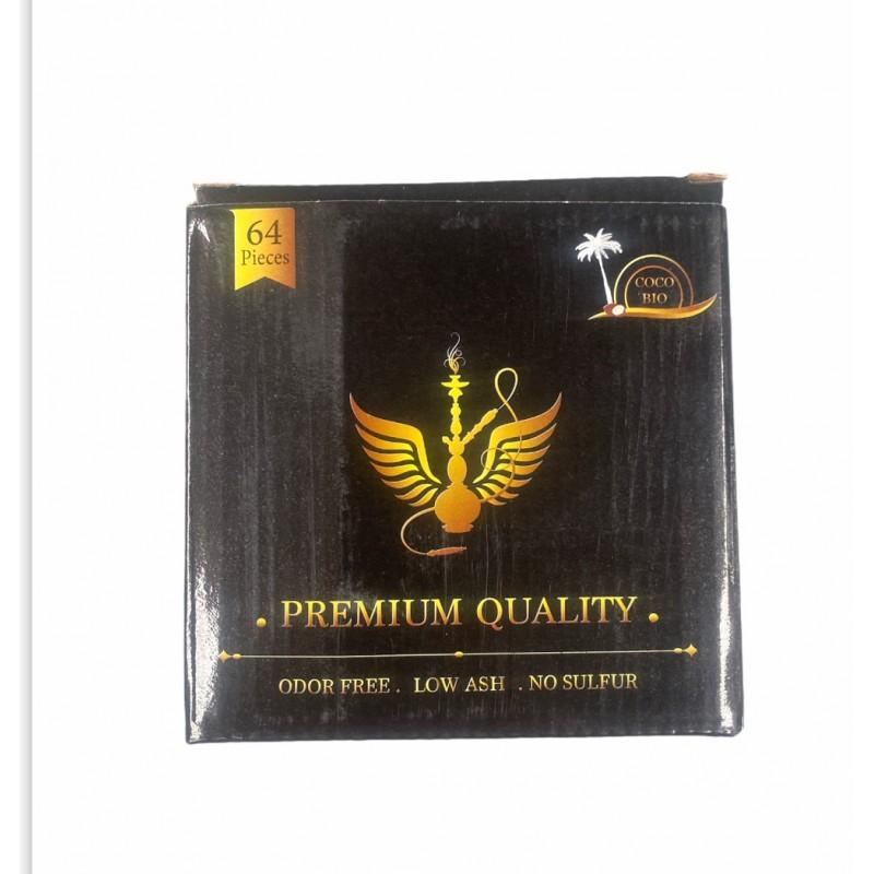 Coco Bio Premium Quality Shisha Charcoal 64 Pieces