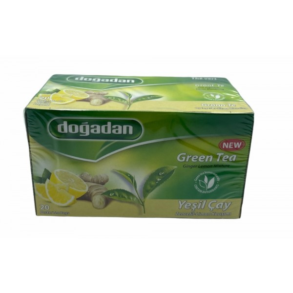 Dogadan Green Tea With Lemon And Ginger 20 Bags
