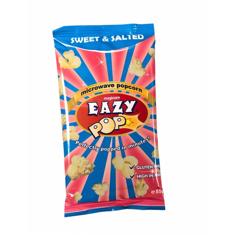 Eazy Microwave Popcorn Sweet And Salted 85g