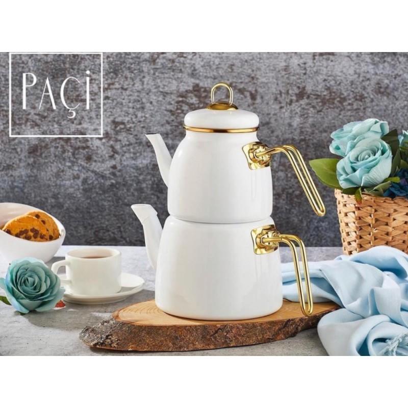 Elite Class TeaPot Set White
