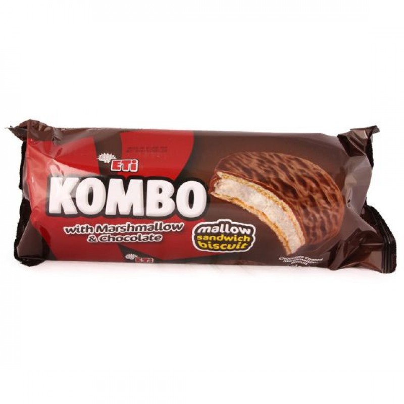 Eti Kombo Mallow Sandwich Biscuit With Marshmallow And Chocolate 304g