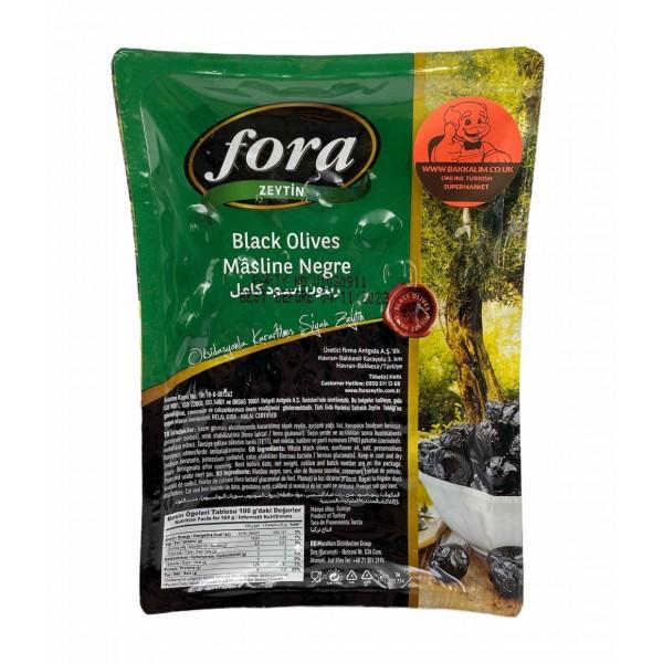 Fora Black Olives 800g