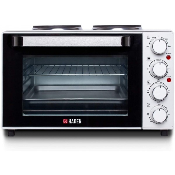 Haden Table Top Oven- 2 Hot Plates And Wire Rack And Baking Tray