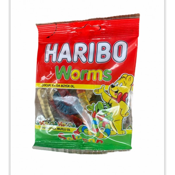 Haribo Worms Fruit Mix Helal 80g