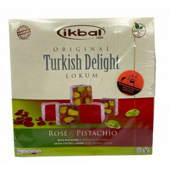 Ikbal Turkish Delight Rose And Pistachio 350g