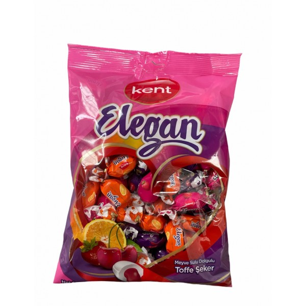 Kent Elegan Chewy Candies With Fruit Juices Filling 375g