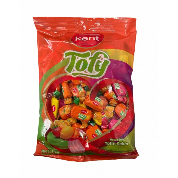 Kent Tofy Assortment Of Chewy Candies With Fruit Juices 375g