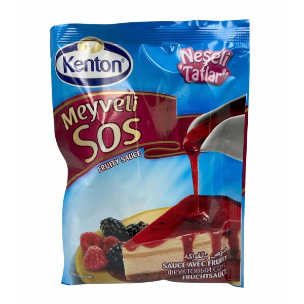 Kenton Fruity Sauce (Black Currant And Strawberry) 80g