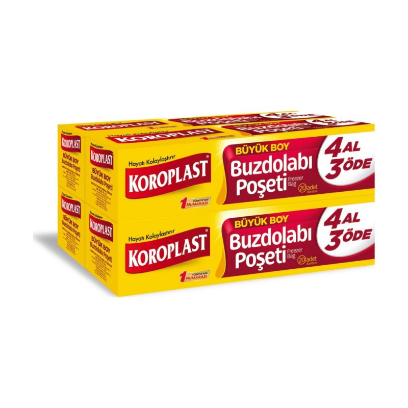 Koroplast Freezer Bag 30x45cm 4x20pcs