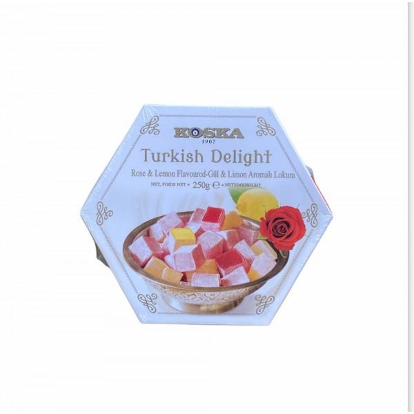 Koska Turkish Delight Lemon And Rose  250g