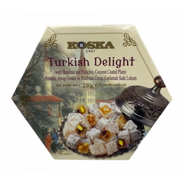 Koska Turkish Delight With Hazelnut And Pistachio 250g